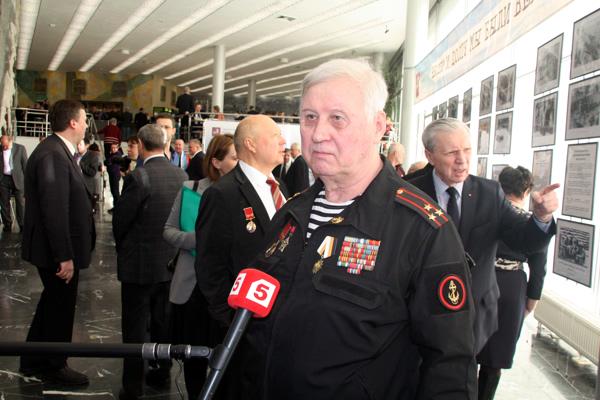 Сергей Ремизов дает интервью 5-му каналу ТВ